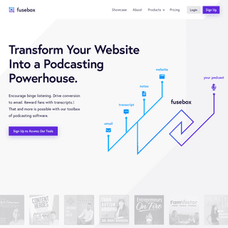 Fusebox - The Most Powerful Podcast Player For Your Website