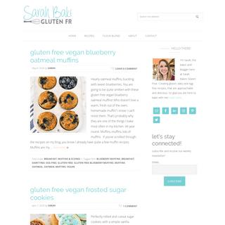 blog - Sarah Bakes Gluten Free