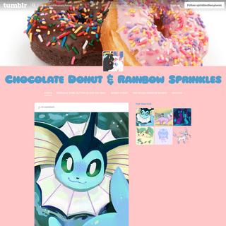 Chocolate Donut & Rainbow Sprinkles