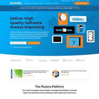 Plutora- Deliver Better Software Faster - Value Stream Management Platform