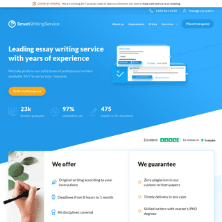 Essay Writing Service with Pro Academic Writers Online - SmartWritingService.com