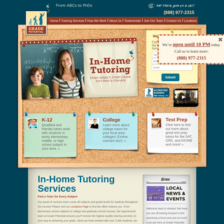 ArchiveBay.com - gradepotentialtutoring.com - In-Home Tutoring Service For All Subjects & Grade Levels – Grade Potential