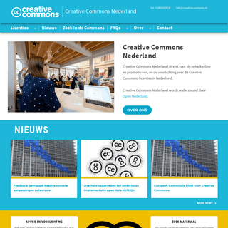 Homepage — Creative Commons Nederland
