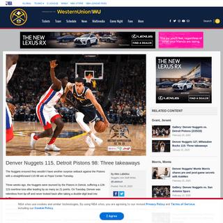 ArchiveBay.com - www.nba.com/nuggets/news/nuggets-pistons-20200225 - Denver Nuggets 115, Detroit Pistons 98- Three takeaways - Denver Nuggets