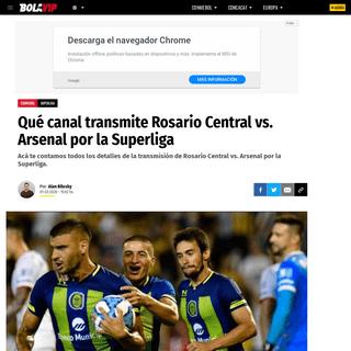 Qué canal transmite Rosario Central vs. Arsenal por la Superliga - Bolavip