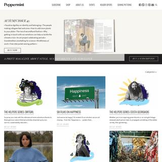 peppermint magazine - style, sustainability, substance