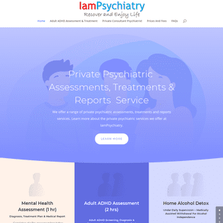 Psychiatric Assessments, Treatments And Reports - IamPsychiatry