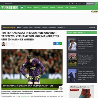 Tottenham verloor van Wolverhampton - Voetbalnieuws - Voetbalkrant.com