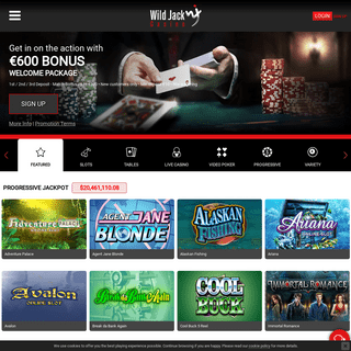 Wild Jack Online Casino - $600
