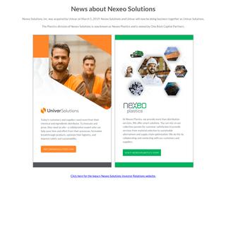 Nexeo Solutions - Acquisition Notice