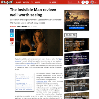 The Invisible Man review- well worth seeing - Den of Geek