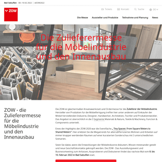 Zulieferermesse für die Möbelindustrie und den Innenausbau - ZOW