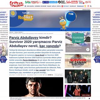 ArchiveBay.com - www.sabah.com.tr/medya/2020/02/16/parviz-abdullayev-nereli-kac-yasinda-survivor-2020-yarismacilarindan-parviz-abdullayev-kimdir - Parviz Abdullayev kimdir- Survivor 2020 yarışmacısı Parviz Abdullayev nereli, kaç yaşında- - Medy...