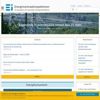 Energimarknadsinspektionen Ei. Vi övervakar och utvecklar energimarknaderna