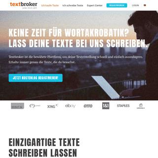 Einzigartige Texte schreiben lassen beim Original - Textbroker