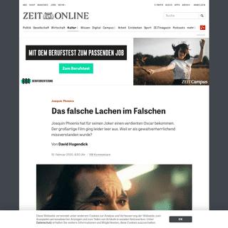 Joaquin Phoenix- Das falsche Lachen im Falschen -ZEIT ONLINE