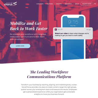 The Workforce Communications Platform for the Enterprise