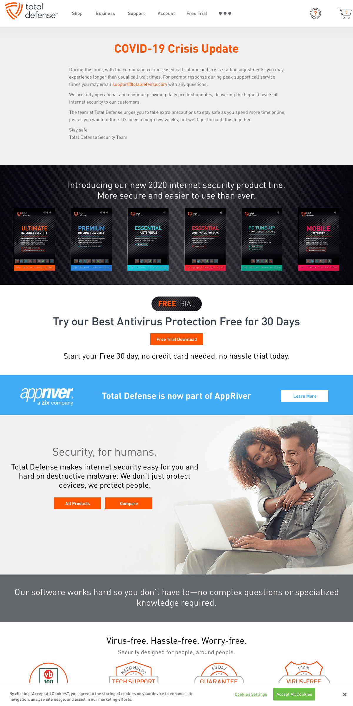 Total Defense - Antivirus & Internet Security Software - Beyond Protection