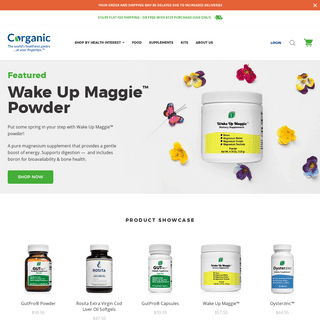 Corganic - Real food and clean supplements.