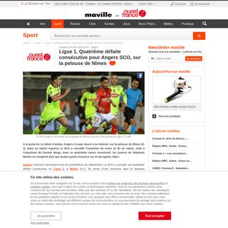 Ligue 1. Quatrième défaite consécutive pour Angers SCO, sur la pelouse de Nîmes. Sport - La Roche sur Yon.maville.com