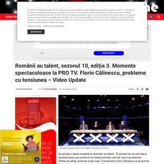 Românii au talent, sezonul 10, ediția 3. Momente spectaculoase la PRO TV. Florin Călinescu, probleme cu tensiunea - Video Upd