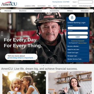 AmeriCU Home - AmeriCU Credit Union - For every day. For every thing.