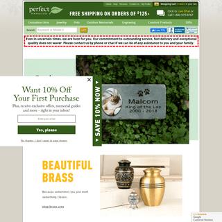 Cremation Urns - Pet Urns - Cremation Jewelry
