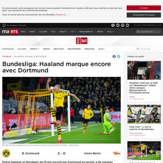 Bundesliga- Haaland marque encore avec Dortmund - rts.ch - Football