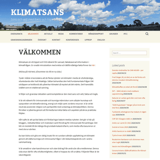 KLIMATSANS - Sans och vett med fakta och logik om klimatet