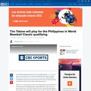 ArchiveBay.com - www.cbssports.com/mlb/news/tim-tebow-will-play-for-the-philippines-in-world-baseball-classic-qualifying/ - Tim Tebow will play for the Philippines in World Baseball Classic qualifying - CBSSports.com