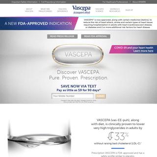 New FDA-approved indication - VASCEPA® (icosapent ethyl)
