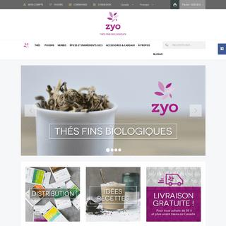 Thés et tisanes bios - Achat en ligne -- Zyo