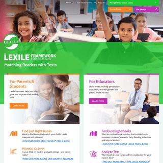 The Lexile Framework for Reading - Lexile