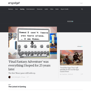 Topic- Gaming articles on Engadget