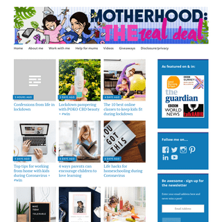 Motherhood- The Real Deal — A UK parenting & lifestyle blog revealing the truth about parenthood