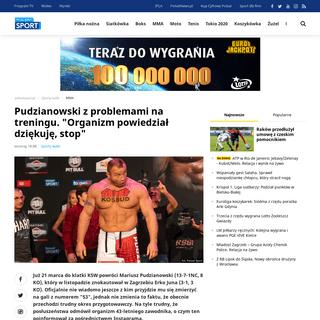 ArchiveBay.com - www.polsatsport.pl/wiadomosc/2020-02-19/pudzianowski-z-problemami-na-treningu-organizm-powiedzial-dziekuje-stop/ - Pudzianowski z problemami na treningu. -Organizm powiedział dziękuję, stop- - Polsat Sport