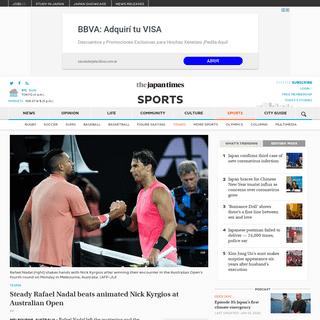 Steady Rafael Nadal beats animated Nick Kyrgios at Australian Open - The Japan Times