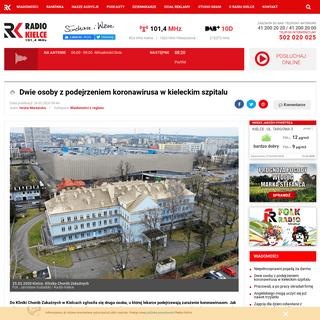 Dwie osoby z podejrzeniem koronawirusa w kieleckim szpitalu - Radio Kielce