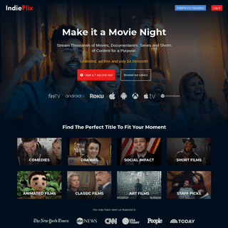IndieFlix - Connecting People Through Movies