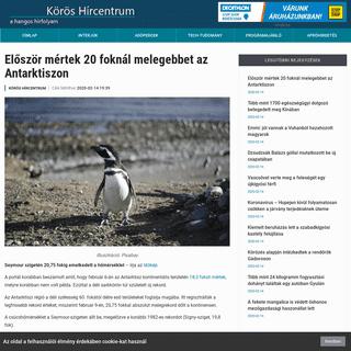 ArchiveBay.com - koroshircentrum.hu/2020/02/14/eloszor-mertek-20-foknal-melegebbet-az-antarktiszon/ - Először mértek 20 foknál melegebbet az Antarktiszon - Körös Hírcentrum