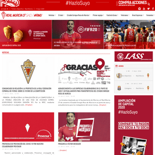 Real Murcia - Inicio