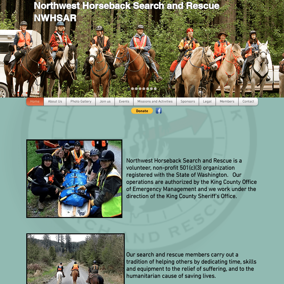 NORTHWEST HORSEBACK SEARCH AND RESCUE - Home