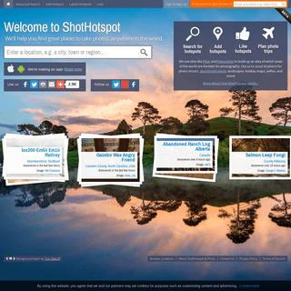 ShotHotspot, The photography locations finder. Abandoned, photo shoots
