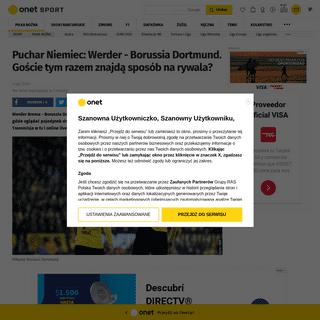 Werder Brema - Borussia Dortmund- o której mecz- Transmisja w tv online live stream - Piłka nożna