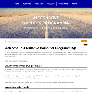 Alternative Computer Programming