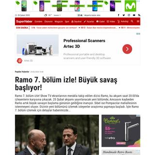 Ramo 7. bölüm izle! - ramo son bölüm izle - show tv canlı yayın - ramo 7 bölüm full izle show