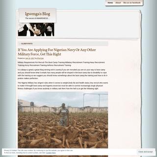 Igwenga's Blog - The secret of AWARENESS…