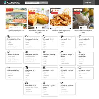 Recetas de cocina. +25.000 recetas fáciles paso a paso