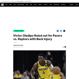 Victor Oladipo Ruled out for Pacers vs. Raptors with Back Injury - Bleacher Report - Latest News, Videos and Highlights