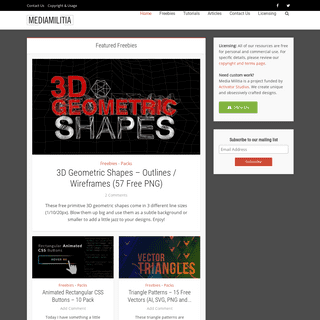Media Militia - Awesome free resources, tutorials, and inspiration!